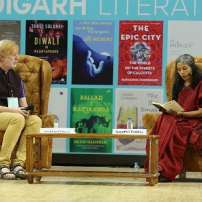 In conversation with Jonathan Gil Harris at Chandigarh Literary Festival, November 2018