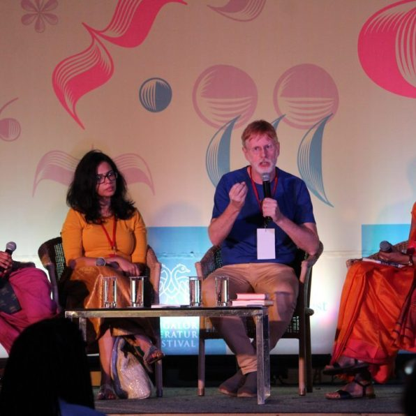 At Bangalore Lit Fest with Karthika Nair, Samhita Arni and Jonathan Gil Harris